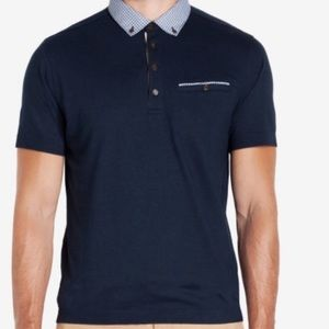 Ted Baker London Navy Blue Polo